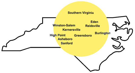 motor oil distribution centers in Greensboro, Eden and Reidsville