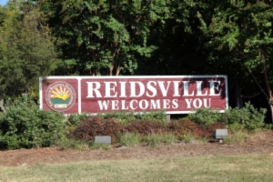 Reidsville NC Welcomes You Sign