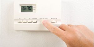 A photo of a thermostat