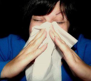 sneezing due to allergies
